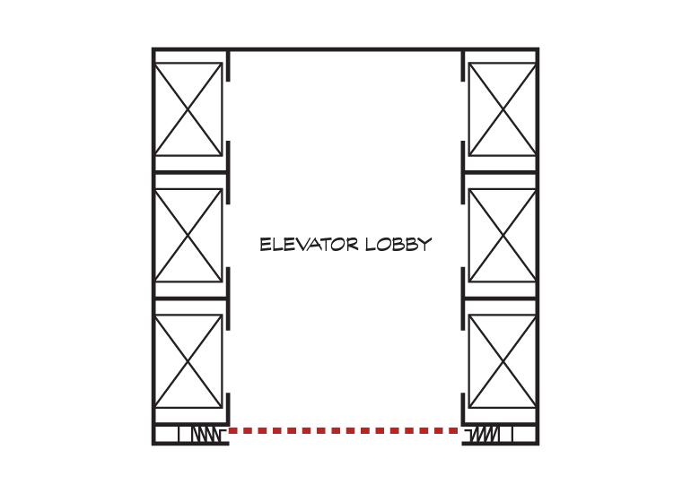 Elevator Separation Plan View